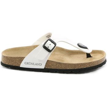 kengät Naiset Varvassandaalit Grunland CB0025 Valkoinen