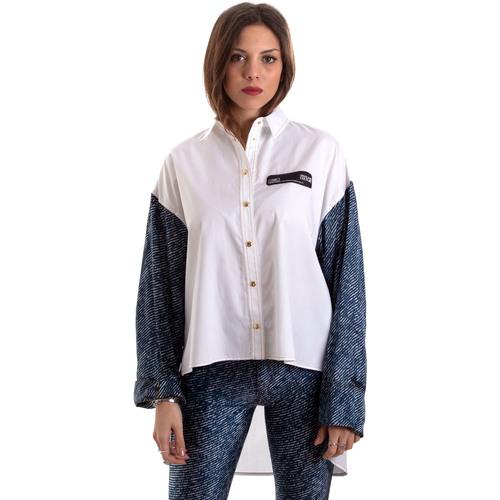 vaatteet Naiset Paitapusero / Kauluspaita Versace B0HVB606S0683904 Valkoinen