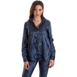 vaatteet Naiset Paitapusero / Kauluspaita Versace B0HVB601S0683904 Sininen