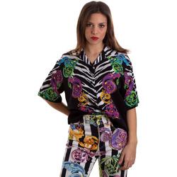 vaatteet Naiset Paitapusero / Kauluspaita Versace B0HVB604S0793983 Musta