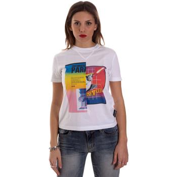vaatteet Naiset Lyhythihainen t-paita Versace B2HVB7V630331003 Valkoinen