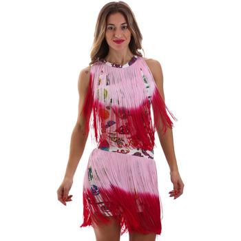 vaatteet Naiset Lyhyt mekko Versace D2HVB406S0777K67 Valkoinen