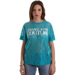 vaatteet Naiset Lyhythihainen t-paita Versace B2HVB70804748207 Sininen