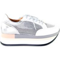 kengät Naiset Matalavartiset tennarit Grace Shoes 331009 Hopea