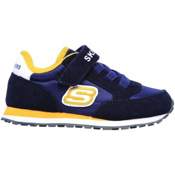 kengät Lapset Matalavartiset tennarit Skechers 97366N Sininen