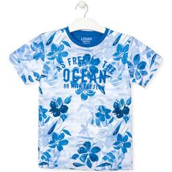 vaatteet Pojat Lyhythihainen t-paita Losan 013-1003AL Sininen
