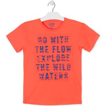 vaatteet Pojat Lyhythihainen t-paita Losan 013-1005AL Oranssi