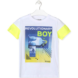 vaatteet Pojat Lyhythihainen t-paita Losan 013-1006AL Valkoinen