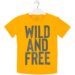 vaatteet Lapset Lyhythihainen t-paita Losan 013-1018AL Keltainen