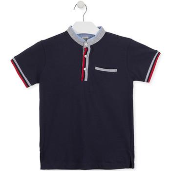 vaatteet Pojat Lyhythihainen poolopaita Losan 013-1791AL Sininen
