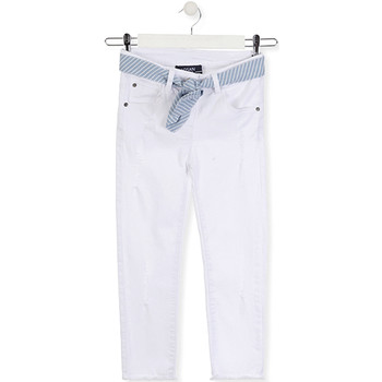 vaatteet Lapset Slim-farkut Losan 014-9011AL Valkoinen