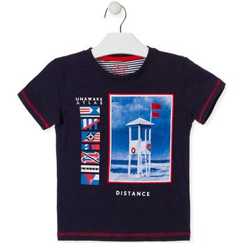 vaatteet Lapset Lyhythihainen t-paita Losan 015-1001AL Sininen