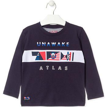 vaatteet Pojat T-paidat pitkillä hihoilla Losan 015-1002AL Sininen