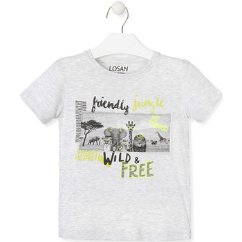 vaatteet Lapset Lyhythihainen t-paita Losan 015-1010AL Harmaa