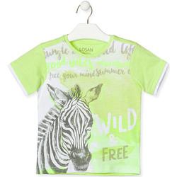 vaatteet Lapset Lyhythihainen t-paita Losan 015-1011AL Vihreä
