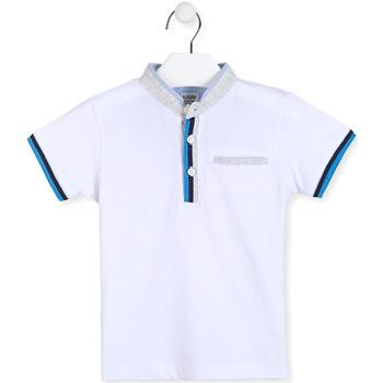 vaatteet Pojat Lyhythihainen poolopaita Losan 015-1791AL Valkoinen