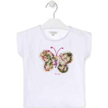 vaatteet Tytöt Lyhythihainen t-paita Losan 016-1790AL Valkoinen