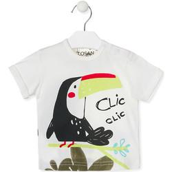 vaatteet Lapset Lyhythihainen t-paita Losan 017-1012AL Valkoinen