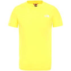 vaatteet Lapset Lyhythihainen t-paita The North Face NF0A2WANDW91 Keltainen