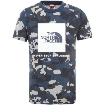 vaatteet Lapset Lyhythihainen t-paita The North Face NF0A3BS2M7Z1 Sininen