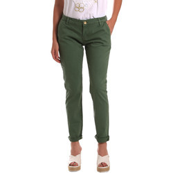 vaatteet Naiset Chino-housut / Porkkanahousut Gaudi 811BD25009 Vihreä