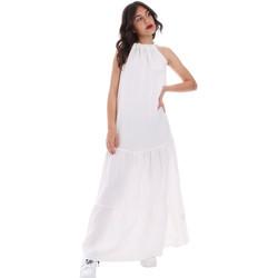 vaatteet Naiset Pitkä mekko Gaudi 011FD15073 Valkoinen