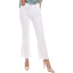 vaatteet Naiset Bootcut-farkut Gaudi 011BD25017 Valkoinen