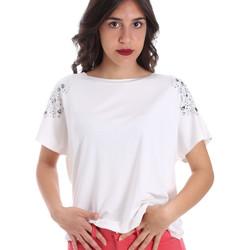vaatteet Naiset Lyhythihainen t-paita Gaudi 011FD64022 Valkoinen