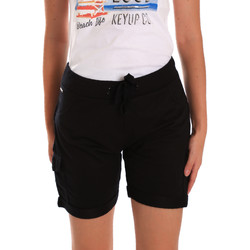 vaatteet Naiset Shortsit / Bermuda-shortsit Key Up 5G75F 0001 Musta