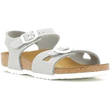 kengät Lapset Sandaalit ja avokkaat Birkenstock 831783 Hopea