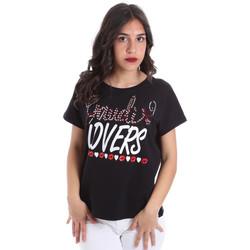 vaatteet Naiset Lyhythihainen t-paita Gaudi 011BD64008 Musta