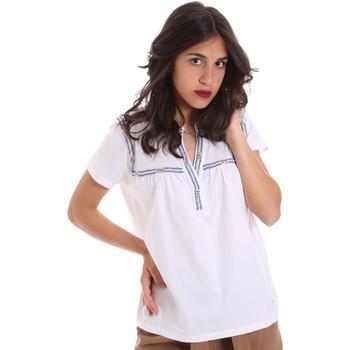 vaatteet Naiset Lyhythihainen t-paita Gaudi 011BD64015 Valkoinen