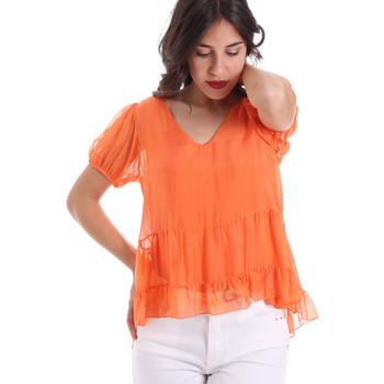 vaatteet Naiset Topit / Puserot Gaudi 011BD45034 Oranssi
