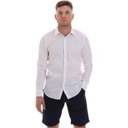vaatteet Miehet Pitkähihainen paitapusero Sseinse CE506SS Valkoinen