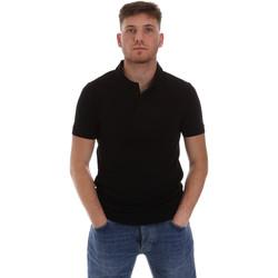 vaatteet Miehet Lyhythihainen poolopaita Sseinse ME1517SS Musta