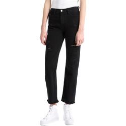 vaatteet Naiset Boyfriend-farkut Calvin Klein Jeans J20J207108 Musta