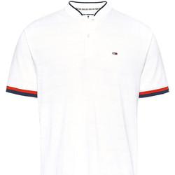 vaatteet Miehet Lyhythihainen poolopaita Tommy Jeans DM0DM07780 Valkoinen