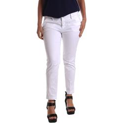 vaatteet Naiset Chino-housut / Porkkanahousut Café Noir JP236 Valkoinen