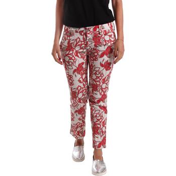 vaatteet Naiset Chino-housut / Porkkanahousut Café Noir JP242 Punainen