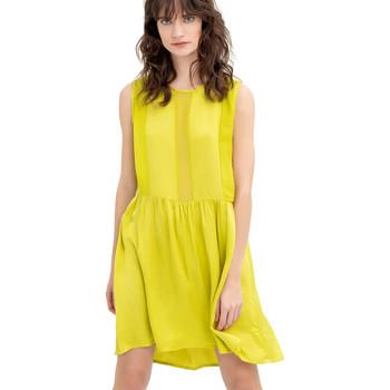 vaatteet Naiset Lyhyt mekko Fracomina FR20SM545 Keltainen