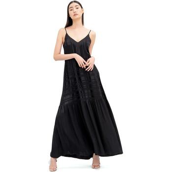 vaatteet Naiset Pitkä mekko Fracomina FR20SM546 Musta