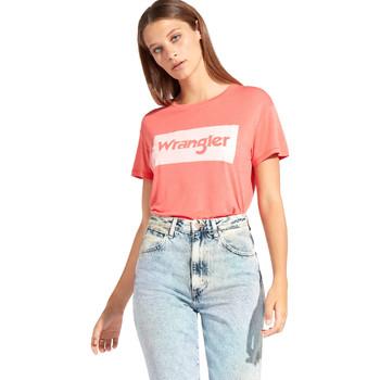 vaatteet Naiset Lyhythihainen t-paita Wrangler W7016D Punainen