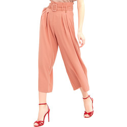 vaatteet Naiset Väljät housut / Haaremihousut Fracomina FR20SM644 Vaaleanpunainen