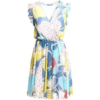 vaatteet Naiset Lyhyt mekko Fracomina FR20SM562 Sininen
