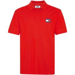 vaatteet Miehet Lyhythihainen poolopaita Tommy Jeans DM0DM07456 Punainen
