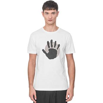 vaatteet Miehet Lyhythihainen t-paita Antony Morato MMKS01765 FA100144 Valkoinen