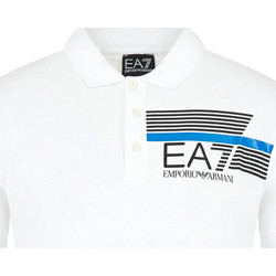 vaatteet Miehet Lyhythihainen poolopaita Ea7 Emporio Armani 3HPF17 PJ02Z Valkoinen