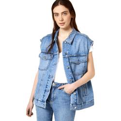 vaatteet Naiset Farkkutakki Liu Jo FA0344 D4470 Sininen