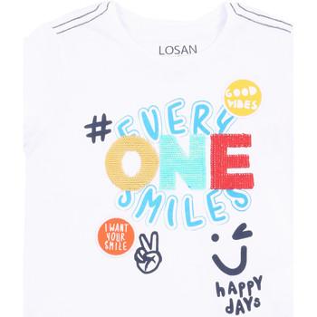 vaatteet Tytöt Lyhythihainen t-paita Losan 015-1032AL Valkoinen