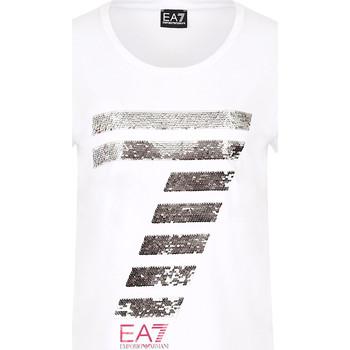 vaatteet Naiset Lyhythihainen t-paita Ea7 Emporio Armani 3HTT41 TJ12Z Valkoinen